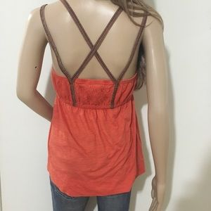 Free People Strappy Aztec Tank